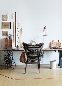 This is Happening: Out of Africa // mud cloth chair