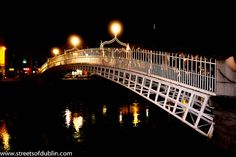 Dublin At Night - Ha'penny Bridge