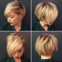 30 Stylish Short Hairstyles: Curly, Wavy, Straight Hair: #10. Messy, Shaggy Hairstyle for Short Hair