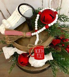 Christmas Rae Dunn Inspired Farmhouse Bead Garland North Pole Mug Bead Garland Farmhouse Beads Farmh