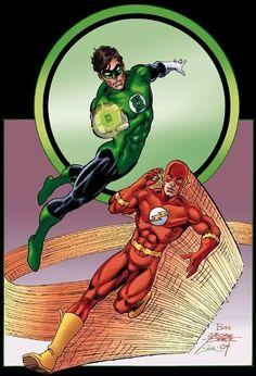 Green Lantern & Flash by George Perez