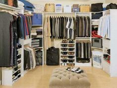Walk in Closet Organizers Design Ideas