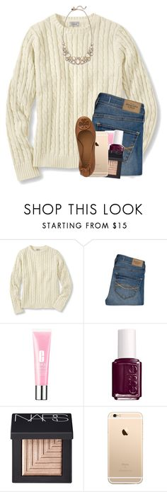 """""""have to take the bus today """" by madelinelurene ❤ liked on Polyvore featuring Abercrombie & Fitch, Clinique, Essie, Kate Spade, NARS Cosmetics and Tory Burch"""