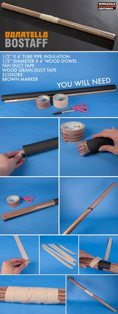 Use this DIY to learn how to make Donatello's bo staff from TMNT! If you're into all things Teenage Mutant Ninja Turtles then you're going to love this simple craft!