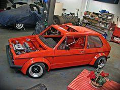 Mk1 Golf racing style