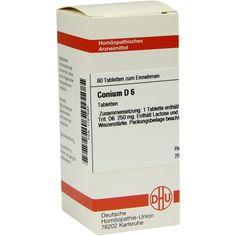 CONIUM D 6 Tabletten:   Packungsinhalt: 80 St Tabletten PZN: 01767583 Hersteller: DHU-Arzneimittel GmbH & Co. KG Preis: 5,95 EUR inkl. 19…