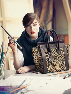 Celine leopard print bag. I have this bag but don't really take it painting!