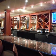 Throwback Thursday to this bar we built at Ruth's Chris steakhouse ( )in downtown Asheville. Ruth Chris, Cabinet Makers, Custom Woodworking, Throwback Thursday, Asheville, Liquor Cabinet, Construction, Bar, Craft