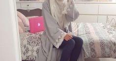 Stunning Lace Kimono Abaya for Muslim Girls