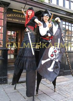 Pirate stilts for water themed corporate events and parties. Stilt Costume, Corporate Entertainment, Family Fun Day, Captain Jack Sparrow, Walkabout, Pirate Theme, Captain Hook, Pirates Of The Caribbean, New Movies