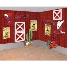 decorating a cowboy themed boys room on a budget - Western Party Decorations