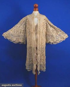 Bobbin & Tape Lace Coat, C. 1910, Augusta Auctions, May 2008 Vintage Fashion & Antique Textile Sale, Lot 692