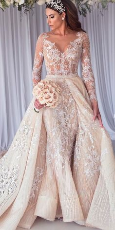 30 Revealing Wedding Dresses From Top Australian Designers ❤ revealing wedding. 30 Revealing Wedding Dresses From Top Australian Designers ❤ revealing wedding dresses lace v neckline long sleeve steven khalil ❤ Full gallery: weddingdressesgui. Princess Wedding Dresses, Best Wedding Dresses, Designer Wedding Dresses, Wedding Gowns, Bridesmaid Dresses, Cinderella Wedding, Mermaid Wedding, Wedding Ceremony, Dresses Elegant