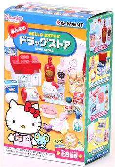 Hello Kitty Drug Store Re-Ment miniature blind box
