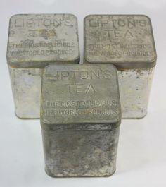 Tin is empty. Lipton, Tins, Empty, Tea Pots, Planters, Container, Jar, Canning, Vintage