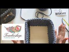 Háčkovaný košík čtverec s dřevěným dnem - YouTube Crochet Basket Tutorial, Crochet Bag Tutorials, Crochet Projects, Macrame Bag, Chanel Boy Bag, Boho Fashion, Upcycle, Blog, Crochet Hats