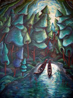 24 Ideas Canadian Landscape Art Emily Carr For 2019 Tom Thomson, Canadian Painters, Canadian Artists, Group Of Seven Art, Group Of Seven Paintings, Emily Carr Paintings, Illustration, Impressionist Paintings, Street Art