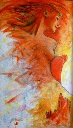 Psalms II. - Oil on wood fiber, 140 x 70