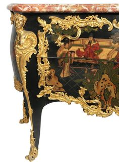 Palatial Louis XV Style 19th Century Gilt Bronze-Mounted Chinoiserie Commode 6
