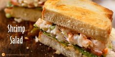 A simple, yet delicious recipe for a cool supper or lunch. Serve as a sandwich or on a bed of lettuce. Shrimp Salad Recipes, Dinner Salads, Fish And Seafood, Yummy Food, Yummy Recipes, A Food, Sandwiches, Dishes, Eat