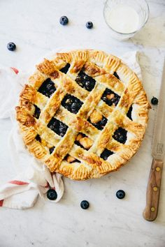 Blueberry, Peach, and Lavender Perfect Pie via Hummingbird High