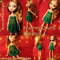 (4) Name: 'Crocheting : Ever After High Clothes: dress (EAH)