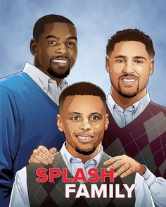 Splash Brothers Family Illustration (Basketball Memes)