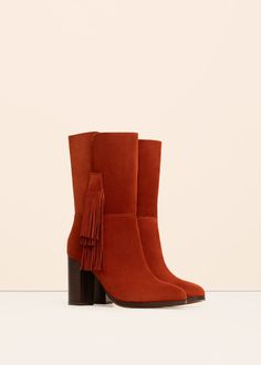 Fringed leather boots -  Woman | OUTLET Lithuania