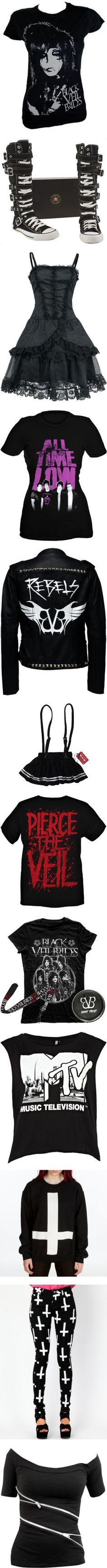"""Stuff I Want - Black"" by tiffanyterror666 ❤ liked on Polyvore"