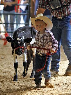 Luke at County Fair 2011, man has he grown since last year