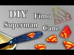 FIMO Superman Cane: Polymer Knife - Tutorial [HD/DE] (EN-Sub) - YouTube