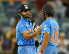 Rohit Sharma and Virat Kohli's 75-run partnership saw India through to a nine-wicket win, India v United Arab Emirates, World Cup 2015, Group B, Perth, February 28, 2015 | www.indiadefends.com #CWC15