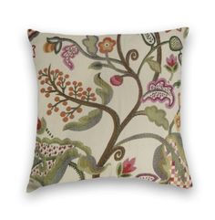 Orange Floral Pillow Cover-- 18x18 or 20x20 or 22x22--Decorative Accent Pillow--Green, Brown, Purple Cream by CodyandCooperDesigns on Etsy https://www.etsy.com/listing/125114864/orange-floral-pillow-cover-18x18-or