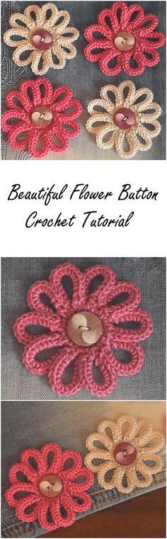 Beautiful flower button pattern