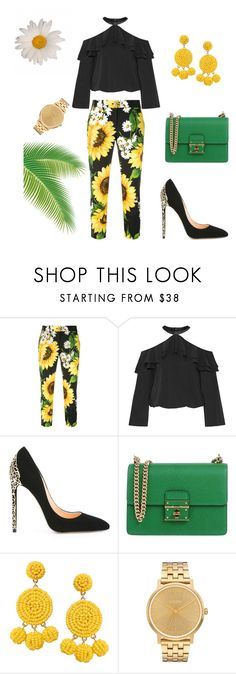 """Bez naslova #19"" by amelito ❤ liked on Polyvore featuring Dolce&Gabbana, Alice + Olivia, Cerasella Milano, Humble Chic and Nixon"