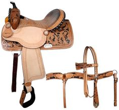 Dark Horse Tack is proud to offer. Double T barrel saddle with black rawhide silver laced cantle and black rawhide braided horn. Saddle features a alligator print seat. Saddle has fully tooled baske Barrel Racing Saddles, Barrel Saddle, Barrel Racing Horses, Horse Saddles, Western Saddles, Western Tack, Horse Halters, Western Riding, Barrel Horse