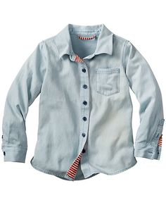 Superwashed Chambray Shirt from #HannaAndersson - size 100 (3-5 years)
