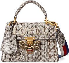 a403ef2aea97 Gucci Queen Margaret small snakeskin top handle bag Gucci Bags, Gucci  Purses, Gucci Handbags