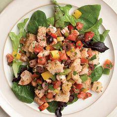 Shrimp Panzanella Recipe | Kitchen Daily