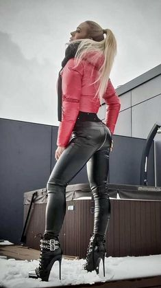 Leather Pants, Fashion, Red, Black People, Woman, Leather Jogger Pants, Moda, Fashion Styles, Fasion