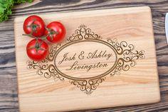 Personalized Cutting Board Wedding Gift Engagement от shesterwood Damask Wedding, Wedding Garter, Rustic Wedding, Etsy Handmade, Handmade Gifts, Toasting Flutes, Personalized Cutting Board, Wedding Glasses, Unity Candle