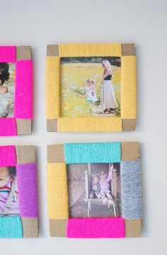 Best DIY Cardboard Photo Frame Tutorials - Let's Do Something Crafty diy projects Are you looking for a birthday gift but you can't go anywhere? In this unsettling time to maintain social distancing means you must spend a lot of tim. Photo Frames For Kids, Photo Frames Diy, Photo Frame Ideas, Creative Photo Frames, Cardboard Picture Frames, Kids Crafts, Carton Diy, Diy Karton, Picture Frame Crafts