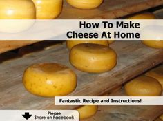 How To Make Cheese At Home - http://www.hometipsworld.com/how-to-make-cheese-at-home.html