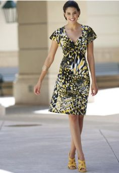 Flutter Sleeve Dress from Seventh Avenue
