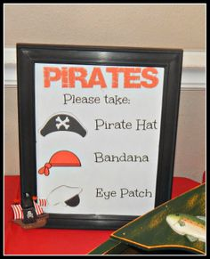 Free Pirate Party Printables #Printables #Pirate #Party