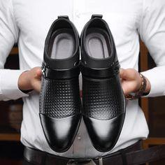 oxford shoes for men loafers slip on men dress shoes business shoes Slip On Dress Shoes, Leather Slip On Shoes, Leather Men, Patent Leather, Oxfords, Formal Shoes For Men, Men Formal, Business Shoes, Men Dress