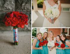 {{ One of a Kind Floral Designs original design }} Bouquets. Red & White Flowers. http://www.facebook.com/1ofakindfloraldesigns {{ Photo: Ashley Dru | Wedding & Portrait Photography }}  http://ashleydru.com/