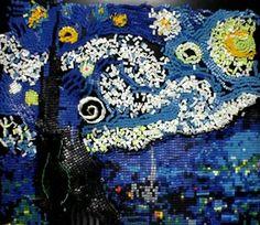 Video: Noche estrellada de Van Gogh hecha con fichas de dominó    http://blogueabanana.com/ar-t/98-arte/672-van-gogh-domin%C3%B3.html