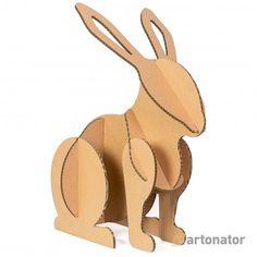 заяц Rabbit Cardboard Sculpture, Cardboard Crafts, Diy Holiday Gifts, Easy Christmas Crafts, Art For Kids, Crafts For Kids, Diy And Crafts, Cardboard Animals, Cute Doodle Art