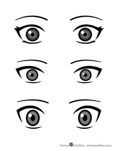 how to draw small anime eyes